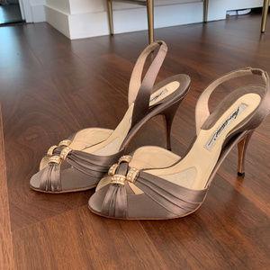 Brian Atwood Slate Slingback Heels
